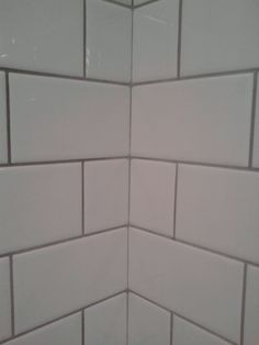 "white tile ""Delorian Grey"" Grout!!!!!!!"
