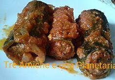 Zucchine ripiene al sugo Chicken Wings, Meat, Food, Meals, Yemek, Eten, Buffalo Wings