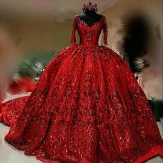 Red wedding dress sequins dress train - Wedding Dress With Sleeves Prom Dresses Long With Sleeves, Beaded Prom Dress, Prom Dresses With Sleeves, Formal Dresses, Beaded Lace, Elegant Dresses, Sexy Dresses, Flowy Dresses, Summer Dresses