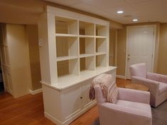 Ideas for Support Beams basement | This is great for hiding those support beams. Finished Basement Design ...