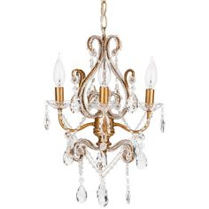 'Tiffany Collection' Crystal Swag Chandelier Lighting with 4 Lights, Authentic Glass Pendants, Shabby Chic (Gold) Plug In Chandelier, Nursery Chandelier, White Chandelier, Beaded Chandelier, Chandelier Lighting, Crystal Chandeliers, Hanging Light Fixtures, Ceiling Light Fixtures, Ceiling Lights
