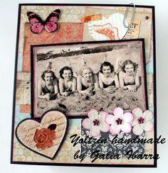 Yoltzin handmade cards: Heritage Card para Retarte  #yoltzinhandmade #cardmaking #studiolight #heritage #vintage
