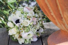 Gorgeous white bridal bouquet. Perfect for a spring or summer wedding. Designed by 'Blickfang Tropp, Austria'