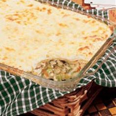 chicken broccoli lasagna-horrible photo from their website, but i made this tonight for dinner and it was really tasty!