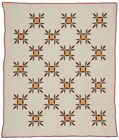 Mary Ann Tavery bought it from Charlotte Riddle, a dealer in KY, in 1983, then donated it to the Rocky Mountain Quilt Museum.