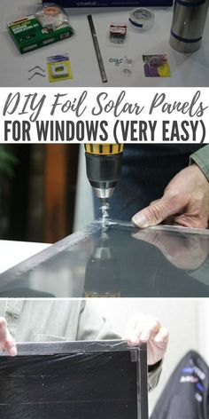 DIY Foil Solar Panels for Windows (VERY Easy) - Getting off the grid as much as we can is top priority. This panel is only 3/4 of an inch thick and weighs in at less than three pounds #diy #solarpanel #diysolarpanel #homestead
