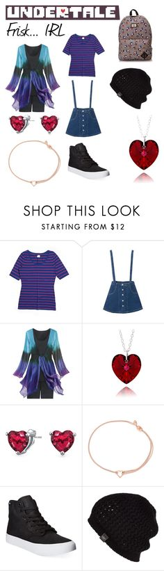 """UnderTale: Frisk... IRL"" by skylarkyoutuber on Polyvore featuring Garnet Hill, Bling Jewelry, Alex and Ani, Vans, UGG Australia, women's clothing, women, female, woman and misses"