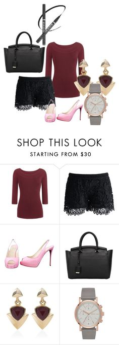 """When"" by calistar71 on Polyvore featuring Chicwish, Christian Louboutin and White House Black Market"