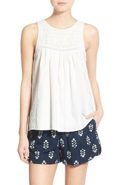 Madewell Embroidered Swing Tank available at #Nordstrom