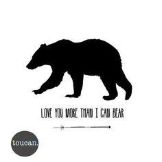 I Love You More Than I Can Bear A4 Print