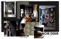na czarno, nie musi być smutno i przygnębiająco, nam podoba się czarna ściana, nie tylko jedna...czerń w salonie, łazience, sypialni, gabinecie