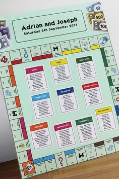 Monopoly Table Plan