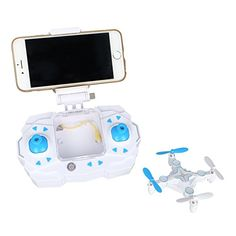 RC Mini Drone with Camera 03MP FPV Real Time Video WiFi Function Small Quadcopter Nano Quadrotor 901S Blue *** See this great product.