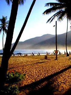 Playa Grande, atardecer en Choroní. Costas aragüeñas. Venezuela