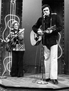 Mother Maybelle Carter and Johnny Cash ~ February 23, 1974.