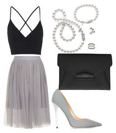 """""""Untitled #74"""" by kola-sara on Polyvore featuring Mikimoto, Topshop, Jimmy Choo and Givenchy"""