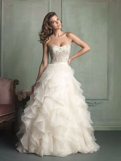 Allure Bridals 9110 Wedding Dress. Allure Bridals 9110 Wedding Dress on Tradesy Weddings (formerly Recycled Bride), the world's largest wedding marketplace. Price $1150.00...Could You Get it For Less? Click Now to Find Out!