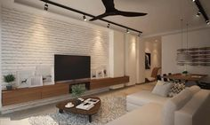 Delightful Tv Feature Wall Living Room, Your feature wall can be painted utilizing an array of accent wall colors that are provided by interior decorators, but there's one shade which goes f. Tv Feature Wall, Feature Wall Living Room, Feature Wall Design, Accent Walls In Living Room, Living Room With Fireplace, New Living Room, Living Room Decor, Small Living, Kitchen Living