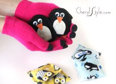 DIY pocket hand warmers are an easy and inexpensive project to keep your paws warm all winter long. | CherylStyle.com