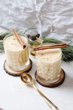 {The Best} Homemade Eggnog (lark & linen) Christmas Cocktails, Holiday Drinks, Holiday Treats, Christmas Eve, Christmas Baking, Christmas Recipes, White Christmas, Holiday Recipes, Christmas Ideas