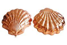 Copper Seashell Molds, Pair on OneKingsLane.com