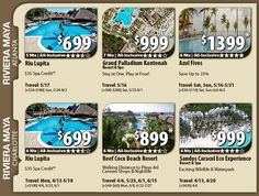 Riviera Maya Vacation Specials with Air Riviera Maya All-Inclusive Vacation Package Deals with Flights from Atlanta ATL or Charlotte CLT 5 Night packages from $699 pp For Details Contact http://taylormadetravel.agentarc.com  taylormadetravel142@gmail.com  call 828-475-6227