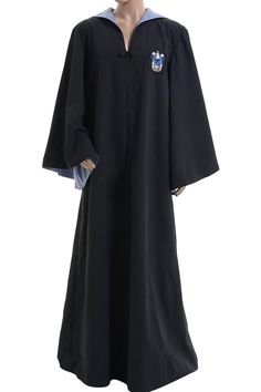 Halloween Costume Harry Potter Hufflepuff of Hogwarts Black Hooded Robe Cloak…