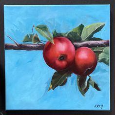 12x12 oil on canvas Oil On Canvas, Original Art, Alcohol, Apple, Watercolor, Ink, Artist, Design, Rubbing Alcohol