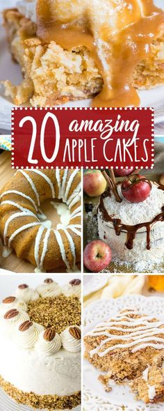 Whether it's a fall birthday celebration or an intimate family gathering, there's an apple cake to celebrate with! 20 Amazing Apple Cake Recipes for Every Fall Themed Party or Gathering #cake #apple via @thebestcakerecipes