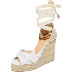 23b2d0b67eac Castaner Fringed Canvas Wedges ( 155) ❤ liked on Polyvore featuring shoes