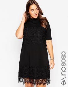ASOS+CURVE+Swing+Dress+With+Cotton+Lace