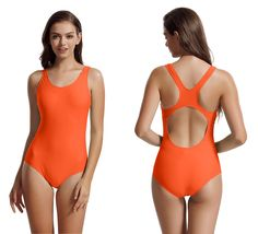 afdab8a2bd302 zeraca Women s Sport Racerback One Piece Swimsuit Swimwear