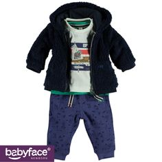 Part of the Babyface Newborn boys WINTER 2015 collection. In stores from August 2015. T-shirt, Jacket and Pants.