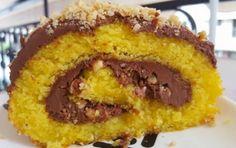 Κορμός με πραλίνα και τρελαινόμαστε..!!!! ❌❌ Δείτε τη συνταγή εδώ ➡️➡️➡️ http://www.foodmaniacs.gr/recipe/kormos-merenta-ke-fountoukia/