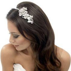 Clear Crystal Rose Bridal Headband