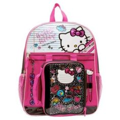 Kids+Hello+Kitty+Backpack+&+Lunch+Tote+Set