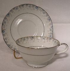 Noritake China Kathleen 6722 Cup Saucer Set | eBay