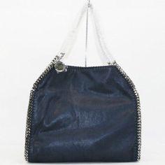 Auth STELLA MCCARTNEY Chain Tote bag FALABELLA polyester Dark blue 261063 229172 (eBay Link)