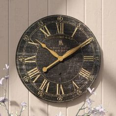 Beautiful Saint-Benoit 18 Wall Clock by Lark Manor Home Decor Furniture from top store Outdoor Wall Clocks, Tabletop Clocks, Unique Wall Clocks, Dining Room Clock, Traditional Wall Clocks, Farmhouse Wall Clocks, Farmhouse Decor, Wall Clock Online, Kare Design