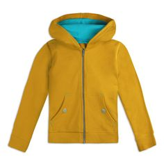 Kids Organic Cotton Hoodies - Mightly Yellow / Large (10)