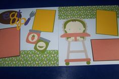 Baby Scrapbook Layout. Scrapbook For Baby. by 1OfAKindCrafts