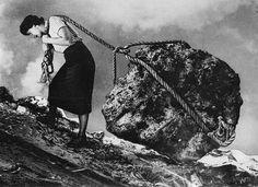 Photomontage by Grete Stern, 1949 Grete Stern, Max Ernst, Bukowski, Arte Pop, Van Life, Fine Art Photography, Bauhaus, Illusions, Images