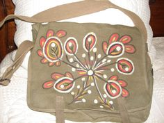 sac bandoulière peint à la main