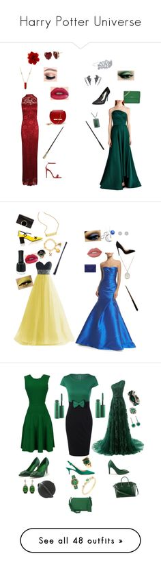 """""""Harry Potter Universe"""" by jehannec16 ❤ liked on Polyvore featuring Boohoo, Angela Valentine Handbags, Gucci, Betsey Johnson, Alex and Ani, DKNY, John Hardy, Jason Wu, Bling Jewelry and Warner Bros."""