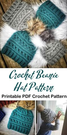 Gorgeous textured crocheted beanie winter hat pattern I love these textured toques And yay Crochet crochet pattern hat winterhat beanie toque yarn crafts craftevangelist Bonnet Crochet, Crochet Beanie Pattern, Crochet Amigurumi, Diy Crochet, Crochet Crafts, Yarn Crafts, Chrochet, Crochet Craft Fair, Crochet Ideas