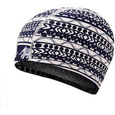49fa1b1e48e Flyusa Candy Color Flower Print Swim Caps for Long Hair Cloth Fabric Hot  Spring Headless Swimming Cap Bathing Hat for Unisex Men Women -- Visit the  image ...