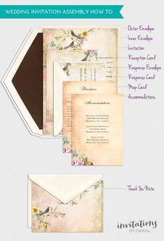 How to stuff wedding envelopes properly