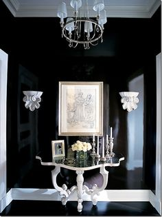 WOW. Black lacquered entry by Alessandra Branco.