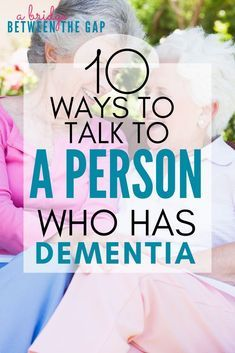 How to Communicate with A Person with Dementia - Alzheimer's Disease - Communicating with Dementia patients can be difficult. These ten commandments will help you learn h - Vascular Dementia, Dementia Care, Alzheimer's And Dementia, Dementia Symptoms, Activities For Dementia Patients, Alzheimers Activities, Elderly Activities, Craft Activities, Aphasia