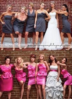Reenact the bridesmaids movie picture for your wedding